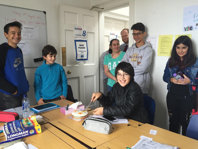 Celebrating an early birthday at ELA