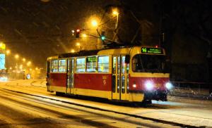 Winter commute- tram style
